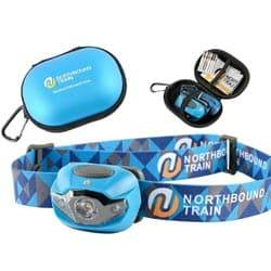 Bright LED Headlamp Flashlight and Case for Running