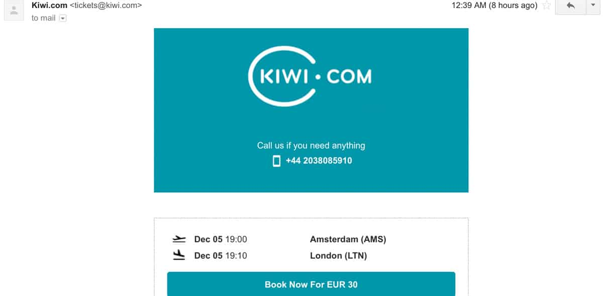 56c77f75aed1 Kiwi com in full REVIEW 2019 - Safe and ok to book (or a Scam )