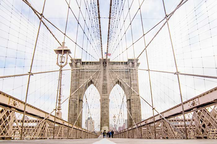 walk through the famous Brooklyn Bridge