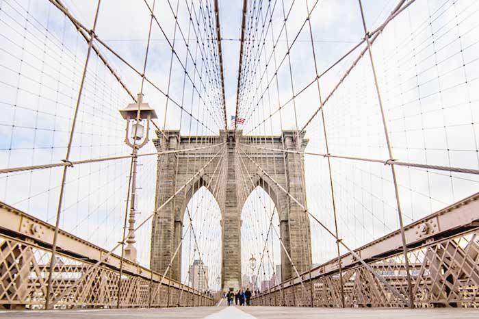 walk through the famous Brooklyn Bridge