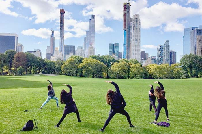 Join workout groups and enjoy nature in Central Park