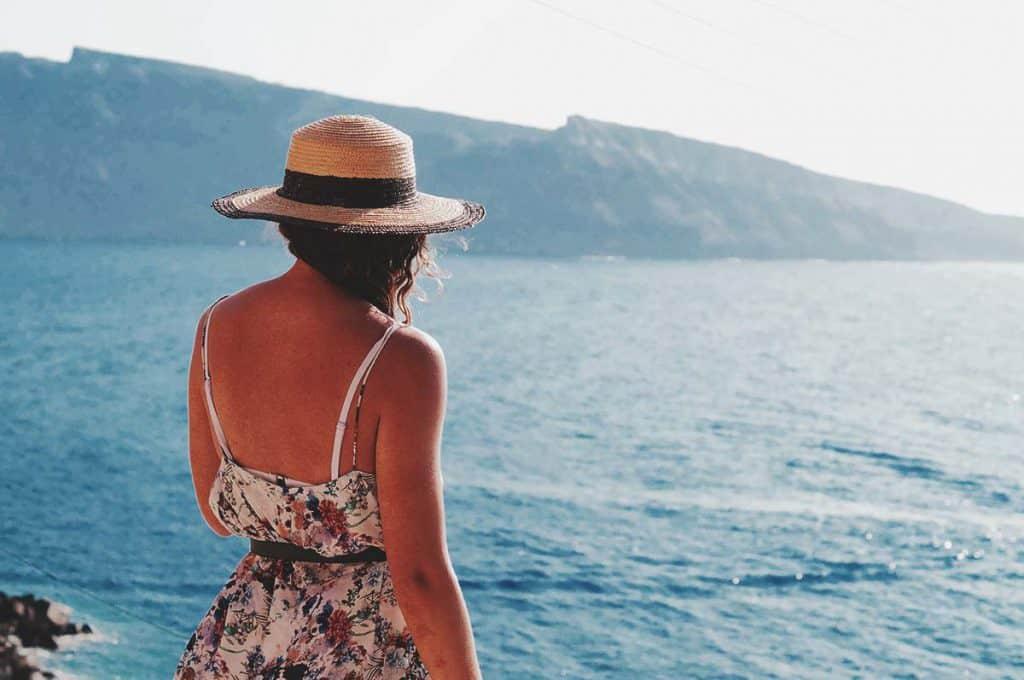 Female Solo Traveler in Santorini
