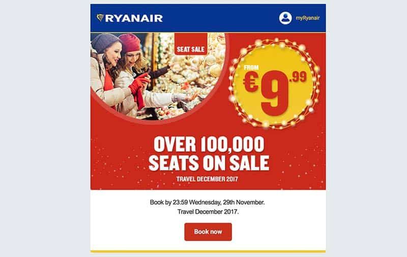 Newsletter Ryanair