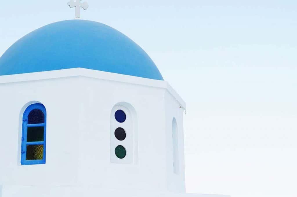 Santorini's roof tops