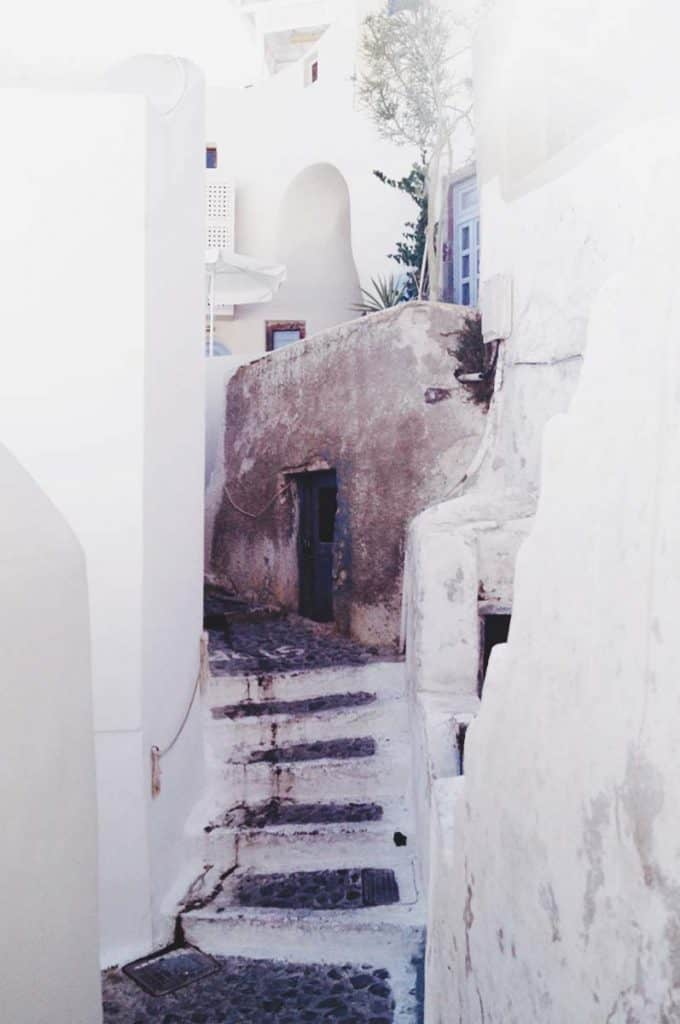 Taking photos around Santorini