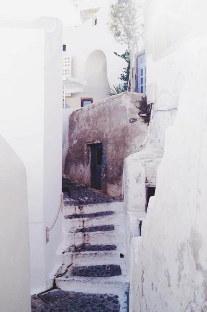Taking photos around Santorini