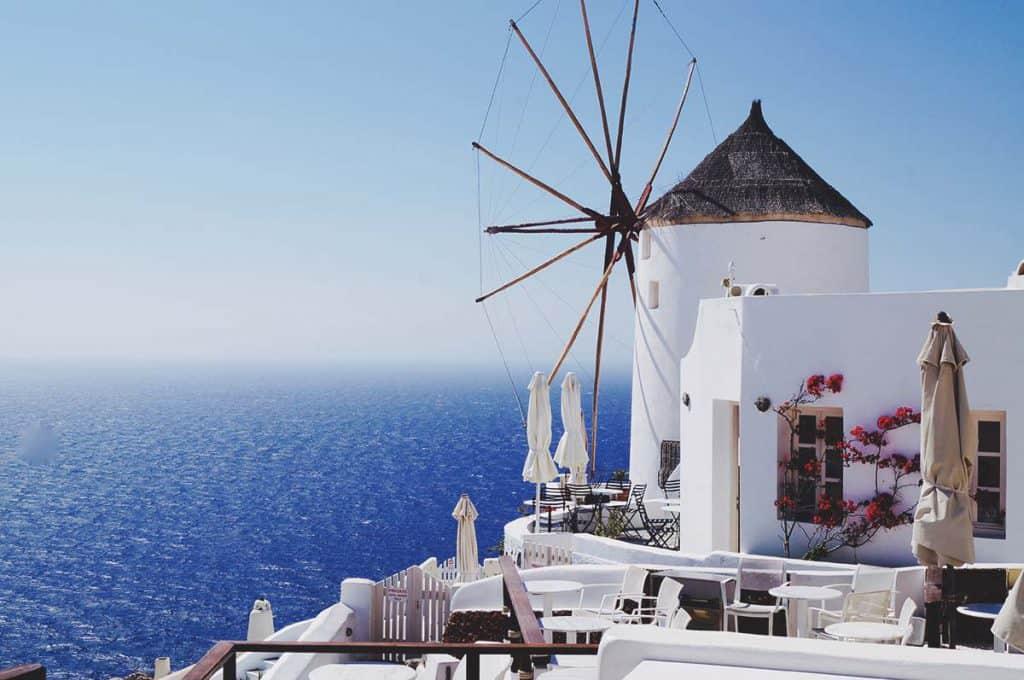 Santorini's windmill - a classic