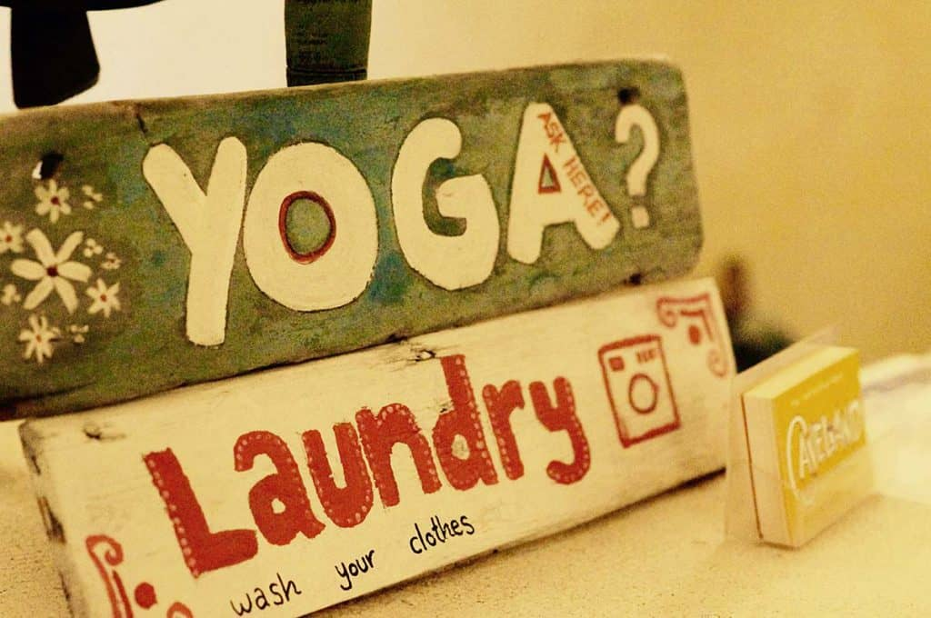 Yoga and Laundry at Caveland Hostel