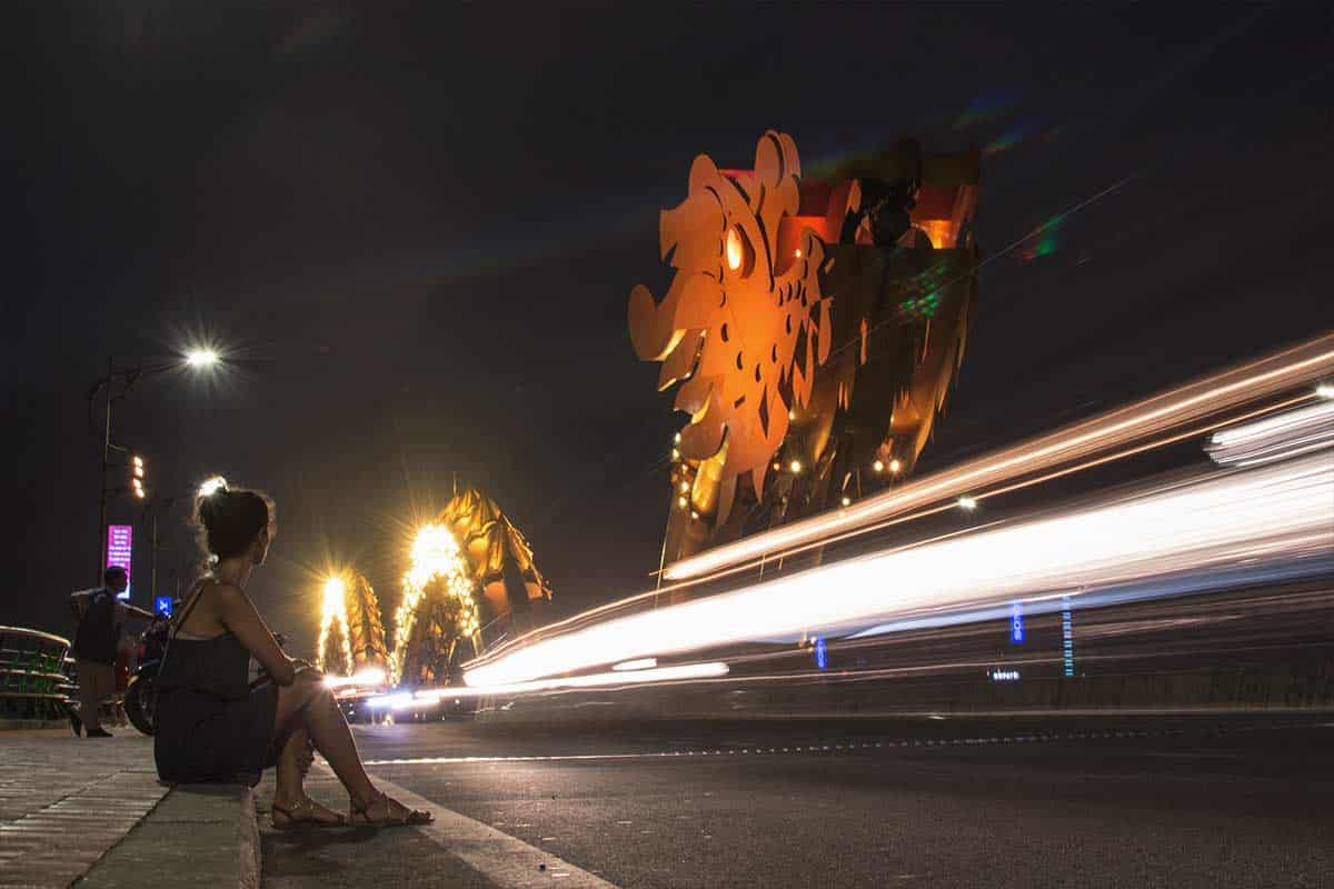 The infamous Dragon Bridge in Vietnam