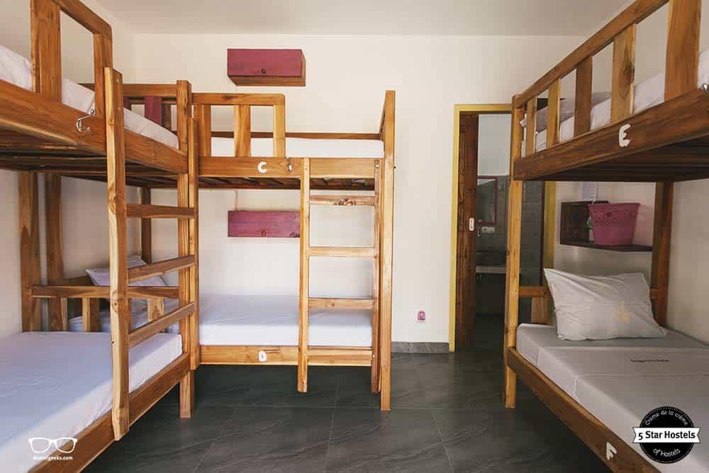 The 6-bed dorm at Dragon Dive Hostel