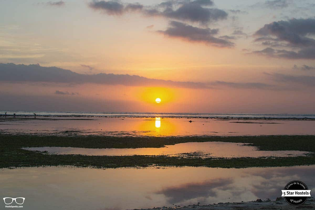 stunning sunset colors at Gili Trawangan, Indonesia