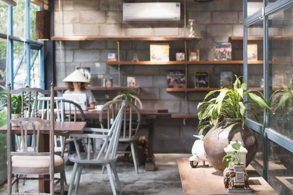 Working and having fun at Golem Cafe, Da Nang