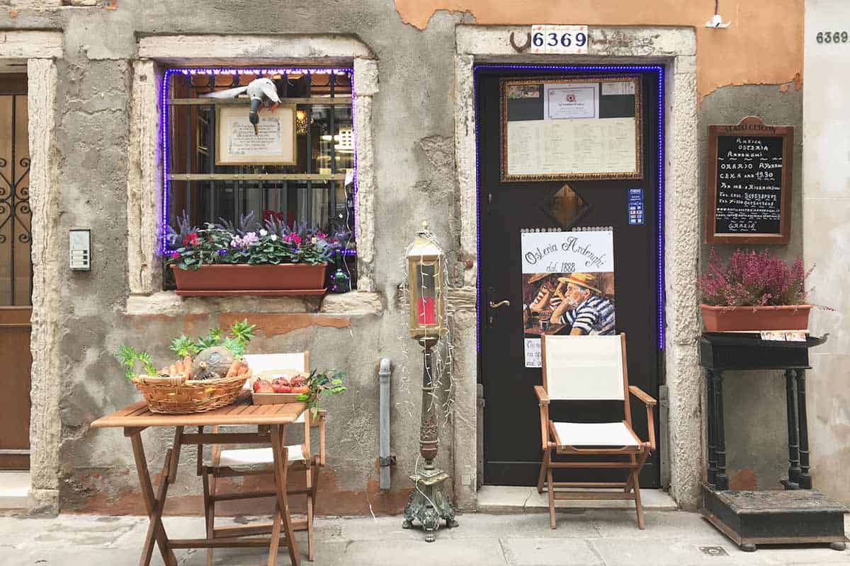 An old tiny osteria