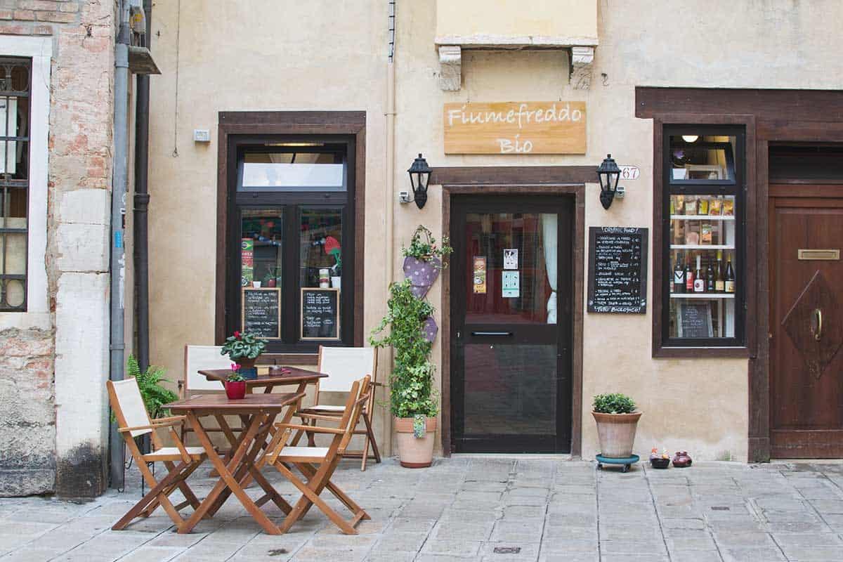 A bio restaurant in Venice