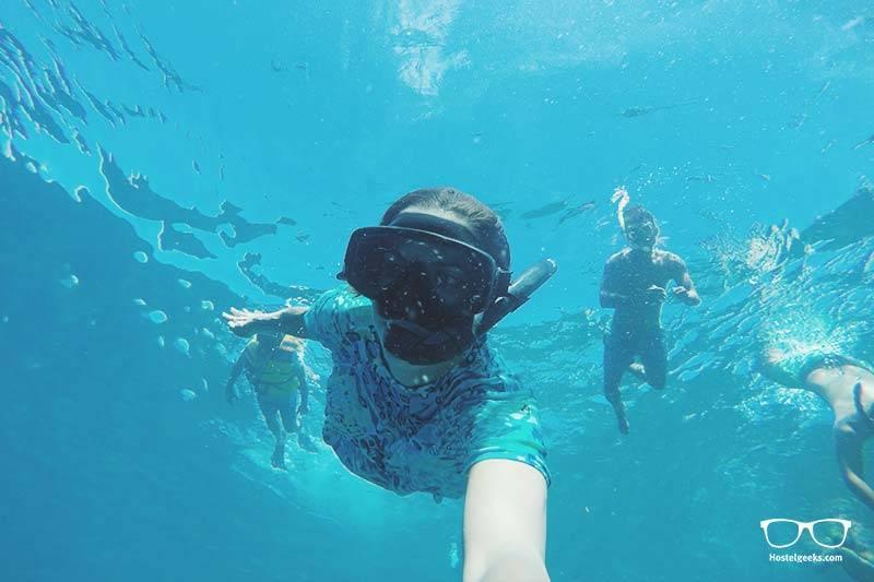 Snorkeling team