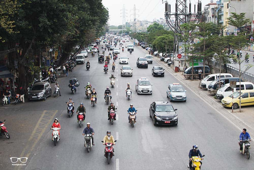 Traffic is crazy in Hanoi, Saigon and all over Vietnam