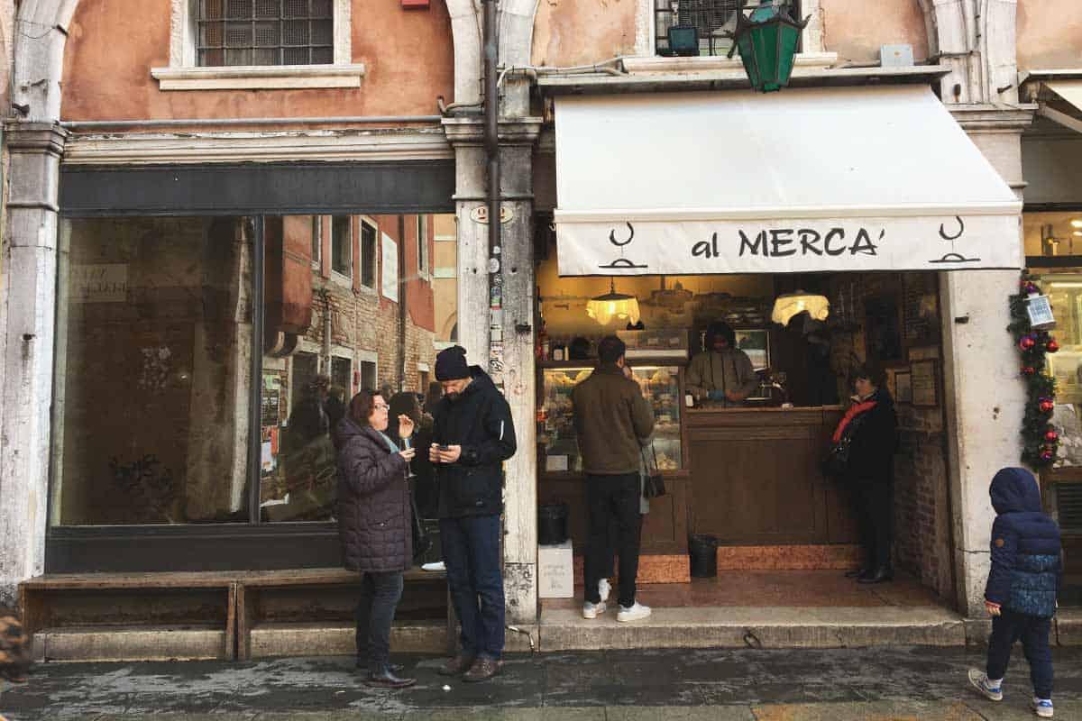 Famous ciccheti in Venice