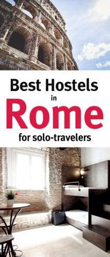 Best hostels in Rome for solo travelers