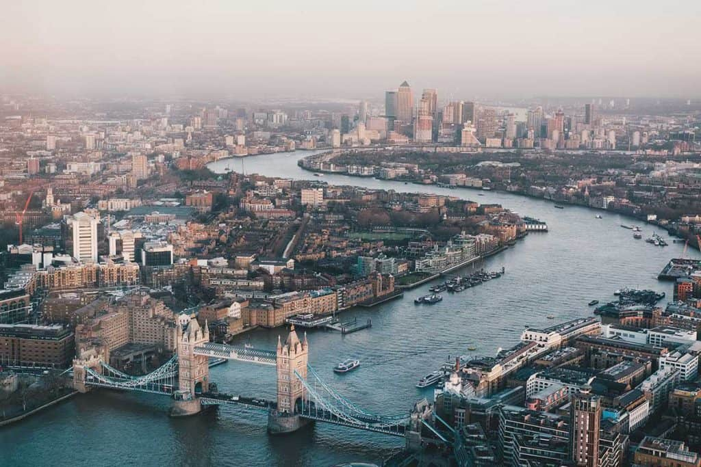 London city view from the top