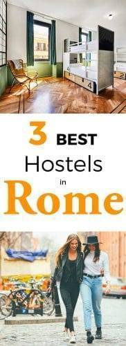 3 Best hostels in Rome