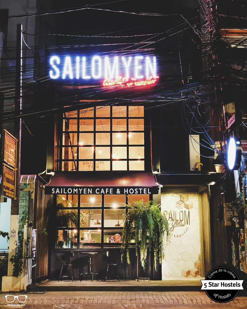 The building of Sailomyen coffee shop and hostel
