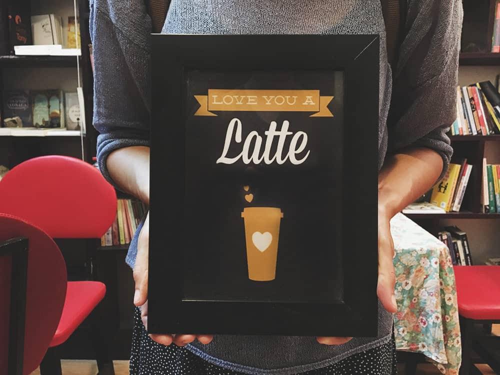Love you a Latte - Bookaholic Coffee Shop