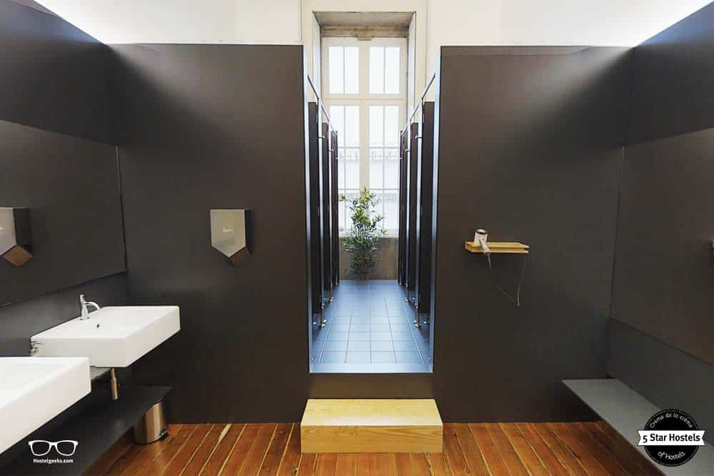 The clean bathrooms with Dyson applicances