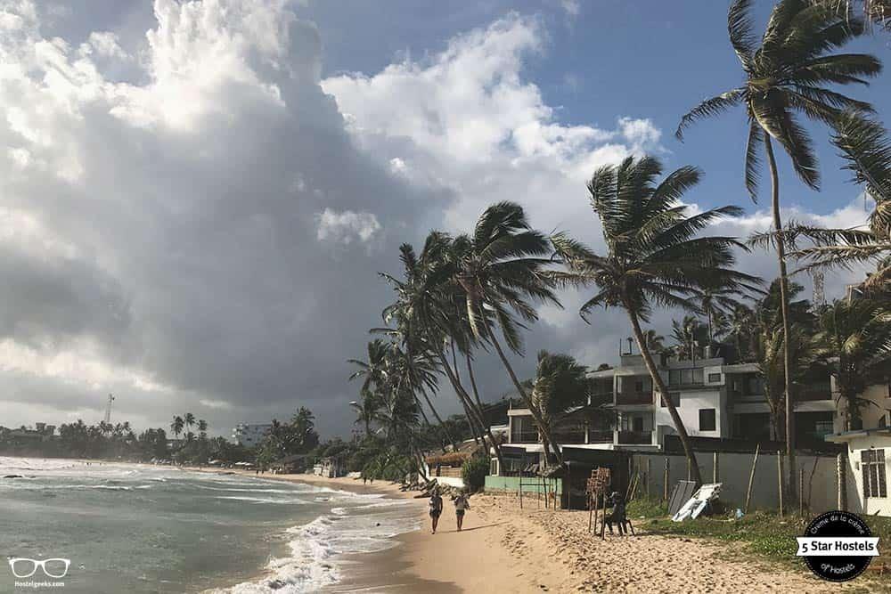 Beautiful beach in Sri Lanka