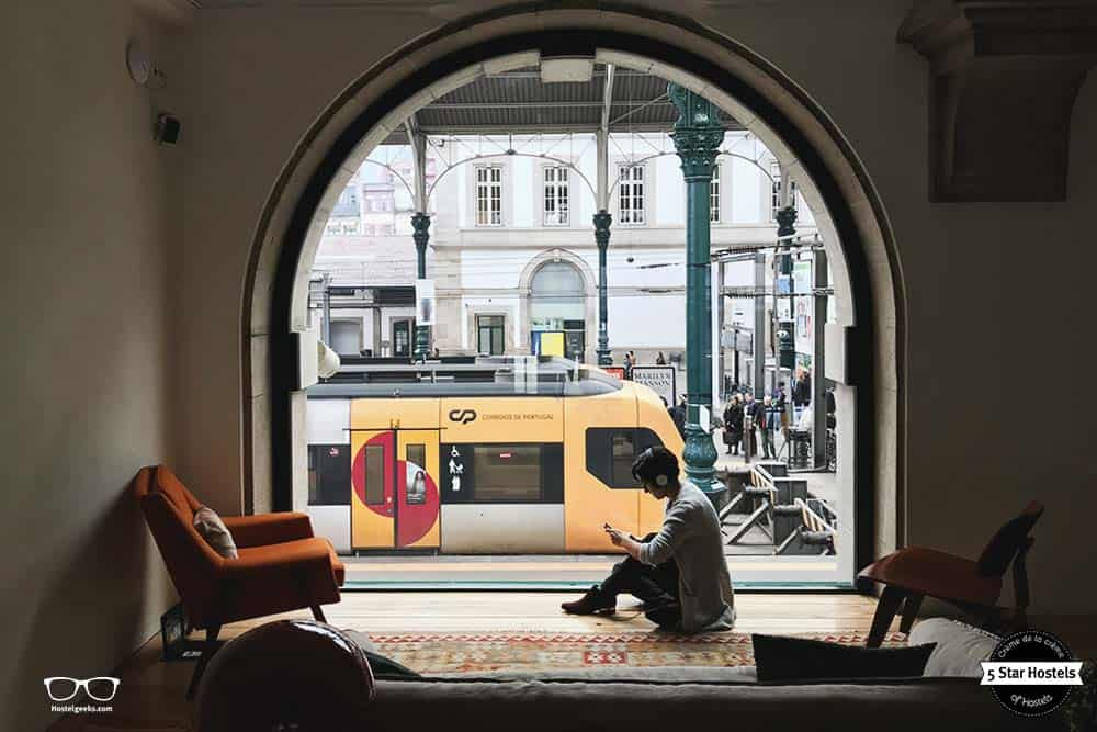 The best located hostel in all Porto - you will never ever miss a train!