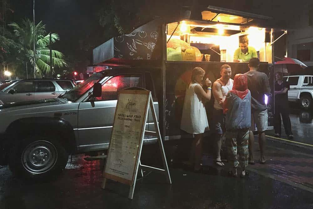 Pizza night at Bunkyard Hostel, best hostel in Colombo, Sri Lanka