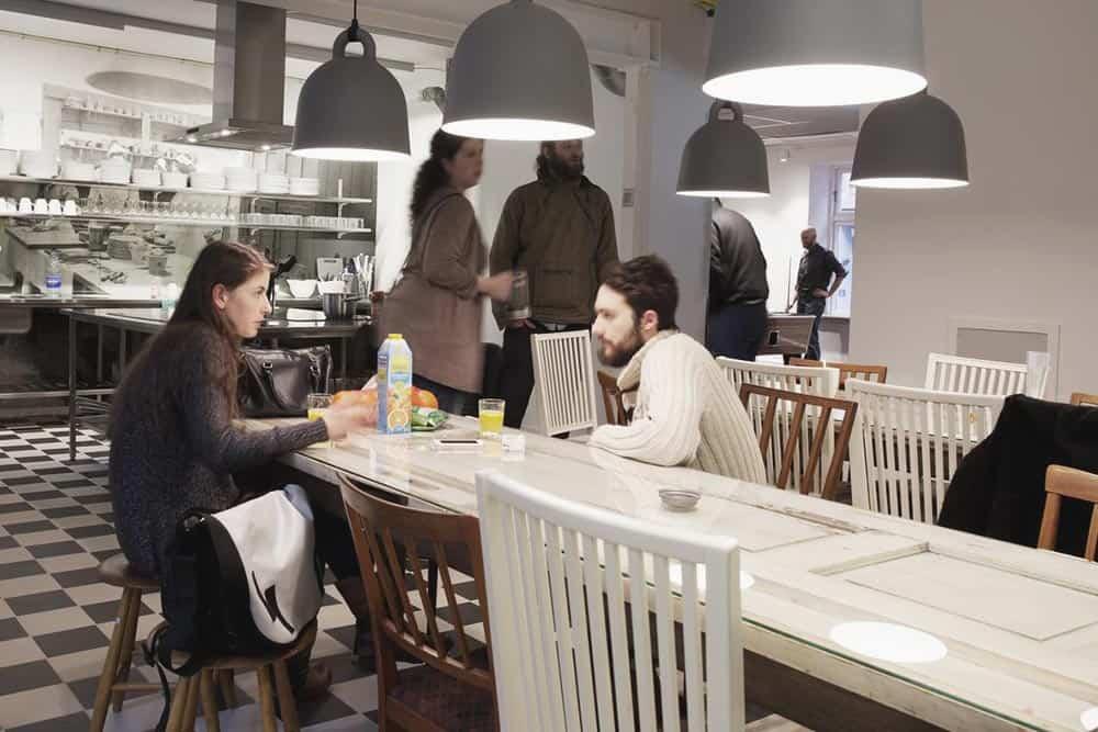 Common kitchen at Urban House Copenhagen