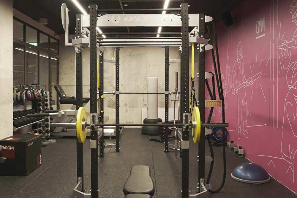 Gym facilities at hostel Copenhagen
