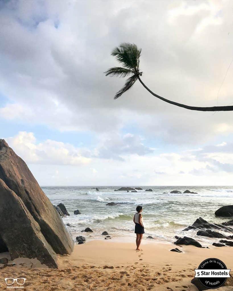 Hidden beach in Sri Lanka