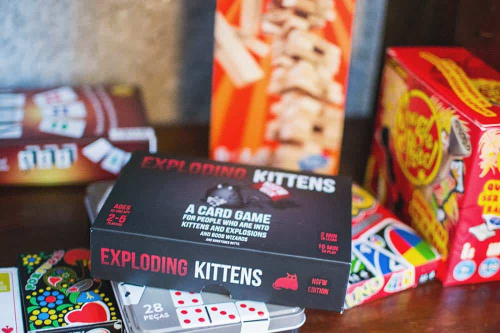 Exploding Kittens - this must be the coolest hostel game ever!