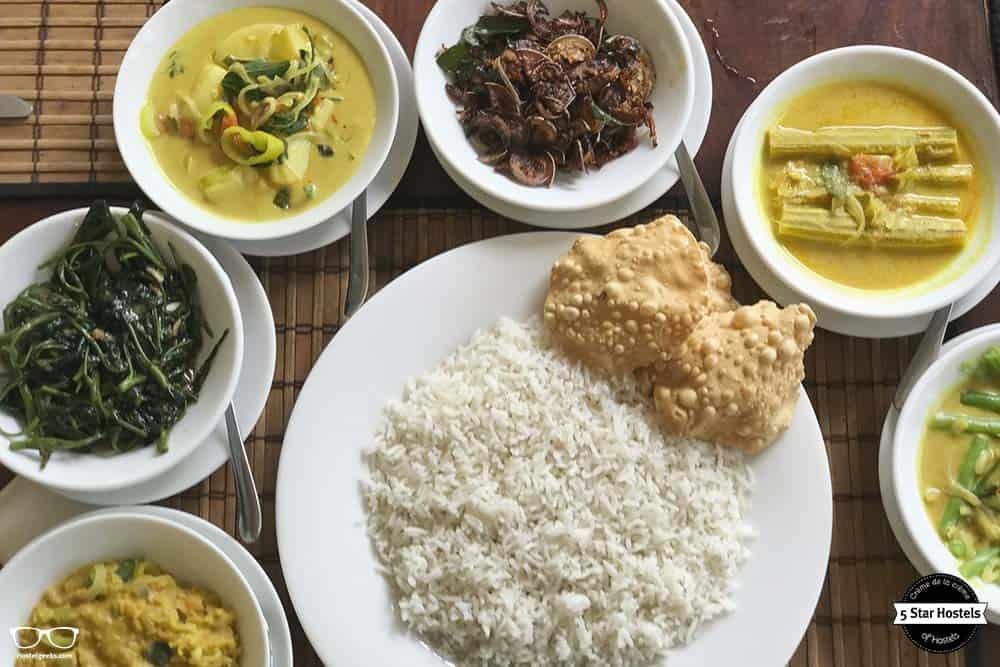 Tasty curry in Sri Lanka