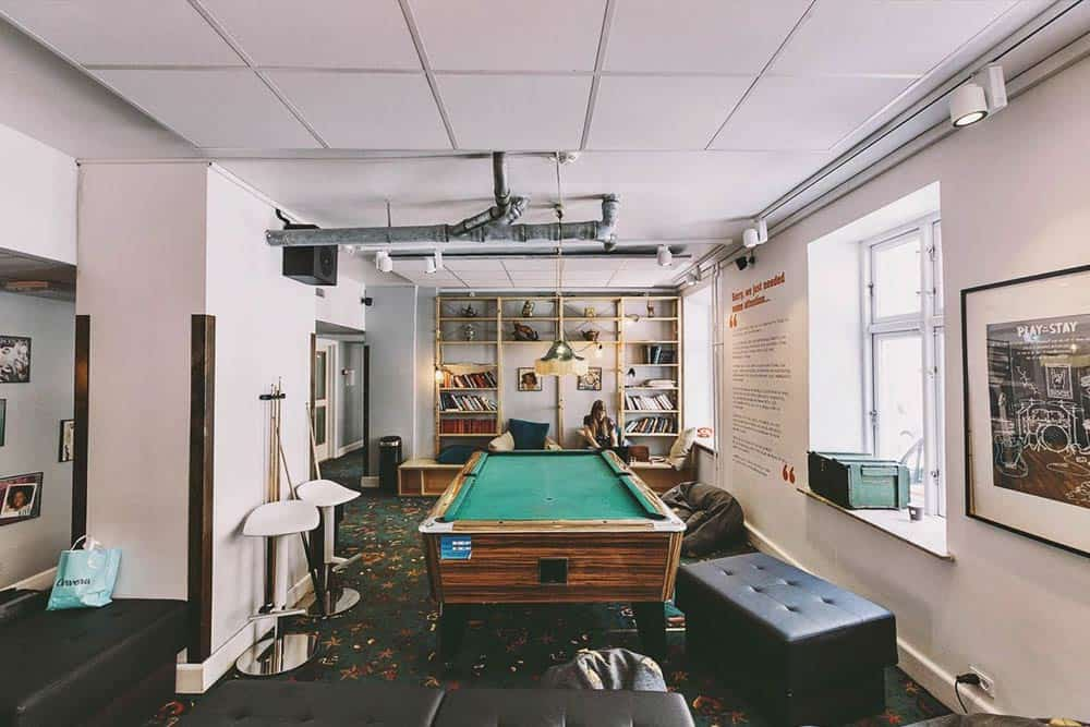 Game rooms hostel Copenhagen