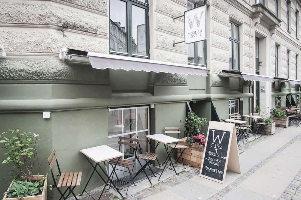 Best Hostels in Copenhagen? Woodah Hostel has a cute terrace