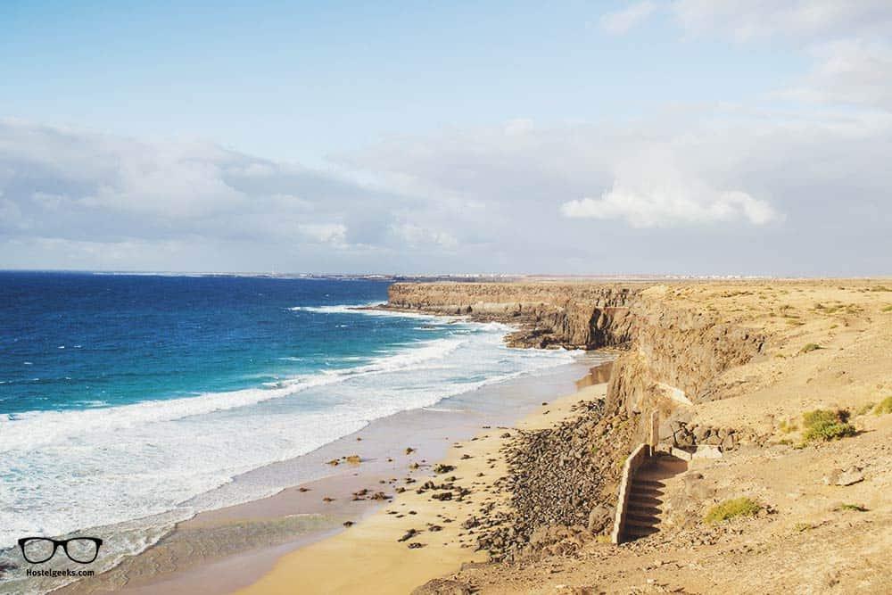 The Playa de la Escalera in Fuertventura