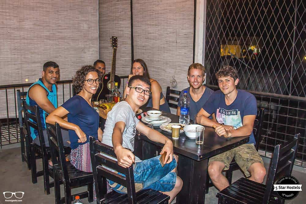 Having fun at Clock Inn Kandy Sri Lanka
