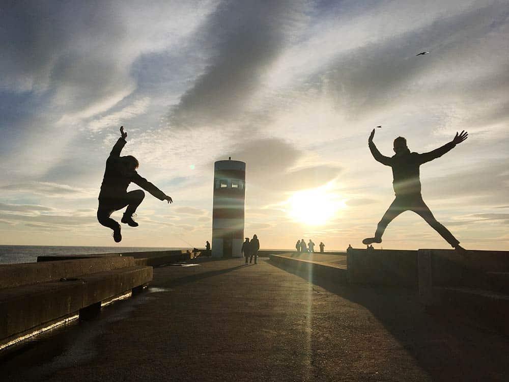 Having fun in Porto -walk the board walk in Porto