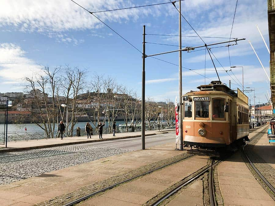 The famous #1 tram in Porto - bring me to the beach