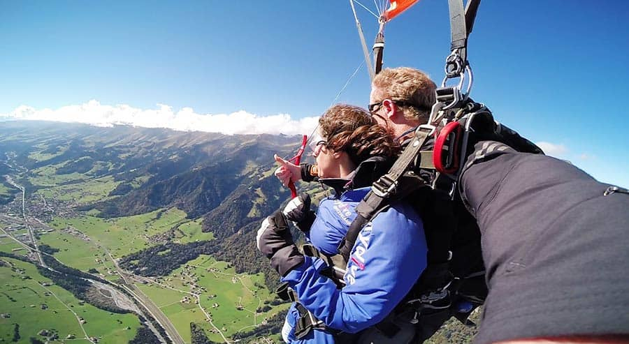 Skidiving in Interlaken - one of the best things to do in Interlaken, Switzerland, Europe