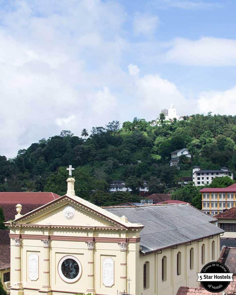 Views from the capsule bed in Clock Inn kandy, Sri Lanka