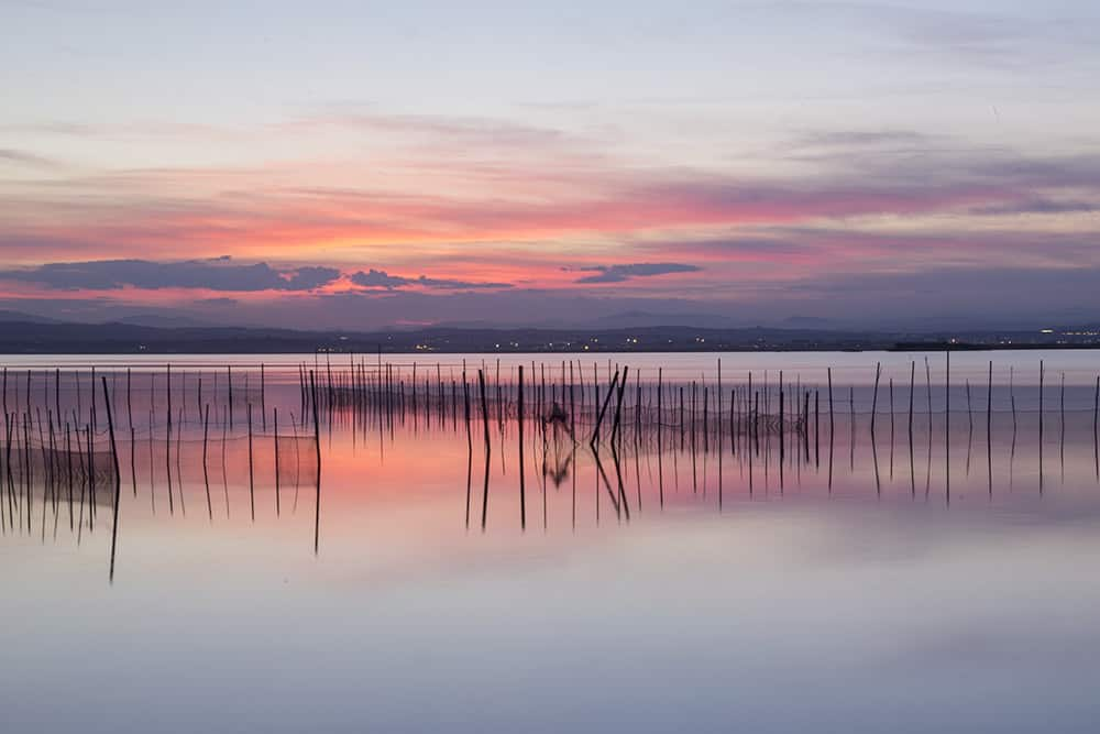 Nice sunset at Albufera de Valencia