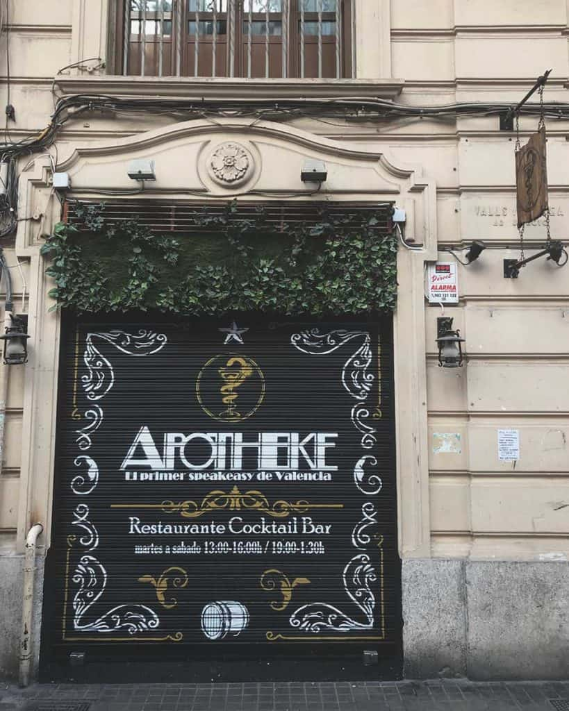 Apotheke the only Speakeasy in Valencia