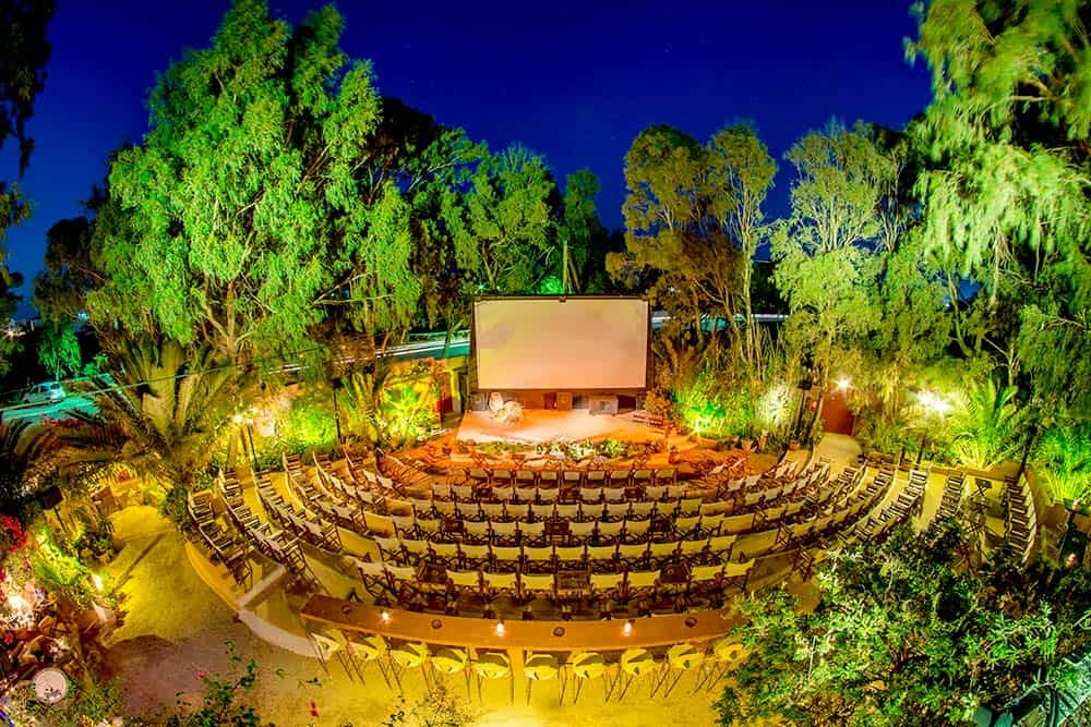 Open Air Cinema in Santorini - for sure one of the coolest things to do in Santorini