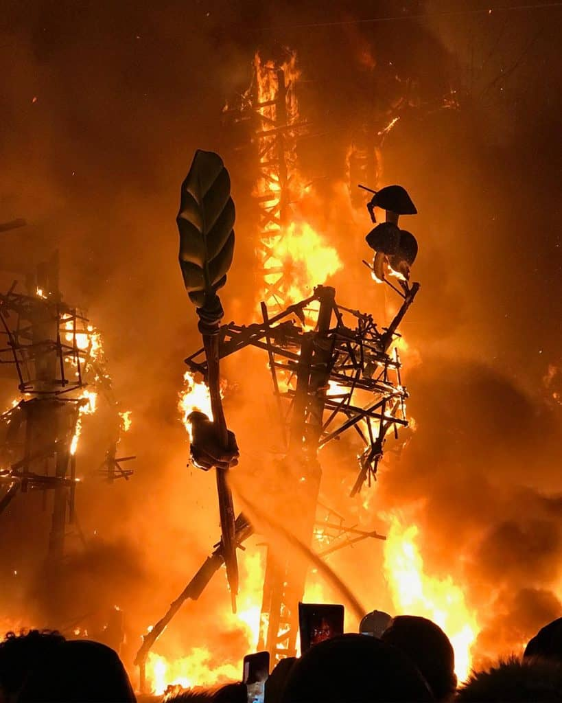 Fallas burning, the end of the party until next year