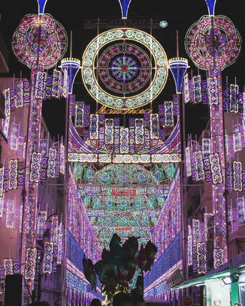 Malvarossa decoration for las Fallas