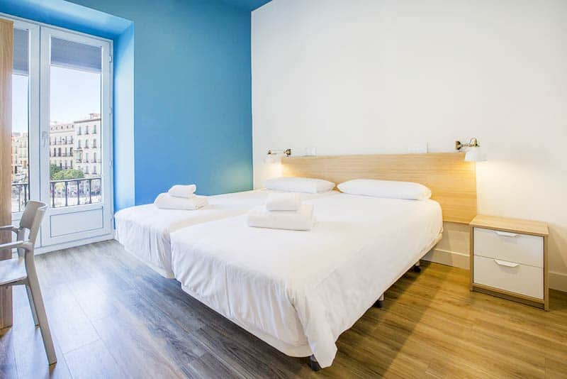 MOLA Hostels Private Room, one of the best hostels in Madrid for Families and groups