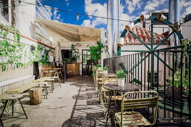 Best Hostels in Madrid: Wanna have a morning coffee here at THE HAT Hostel?